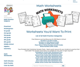 Jumbo Math Worksheets Pack - Math Worksheets you will WANT to Print!