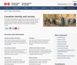 Canadian identity and society