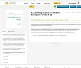 EAL Writing Rubrics and Student Exemplars: Grades 9-12