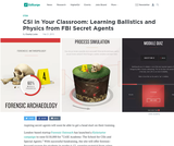 CSI in Your Classroom: Learning Ballistics and Physics from FBI Secret Agents