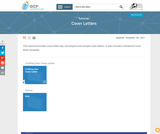 Cover Letters Tutorial