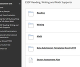 1 Saskatchewan Ministry of Education Assessment Supports for ESSP Reading, Writing & Math