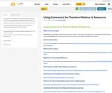 Using CommonLit for Teachers Webinar & Resources