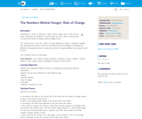 The Numbers Behind Hunger: Rate of Change