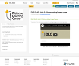DLC ELA5: Unit 2 - Determining Importance