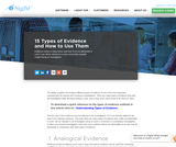 15 Types of Evidence and How to Use Them in Investigations