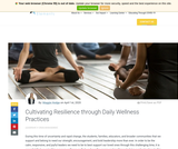 Cultivating Resilience through Daily Wellness Practices