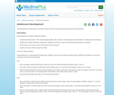 Adolescent development: MedlinePlus Medical Encyclopedia