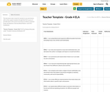Teacher Template - Grade 4 ELA