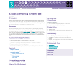 CS Discoveries 2019-2020: Interactive Animations and Games Lesson 3.3: Drawing in Game Lab
