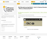 DLC Blended Learning Math 9 - Unit 3.1: Rational Numbers - What is a Rational Number?