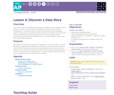 CS Principles 2019-2020 8.4: Discover a Data Story