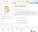 Character - Example Rubrics