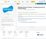 Mathletics Demo for Teachers - Including Assessment & Problem Solving