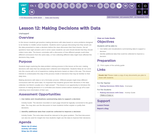 CS Discoveries 2019-2020: Data and Society Lesson 5.12: Making Decisions with Data