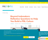 Beyond Icebreakers: Reflective Questions to Help You Build a PBL Culture