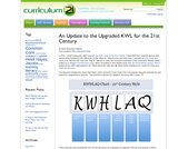 Curriculum21 — An Update to the Upgraded KWL for the 21st Century - KWHLQ