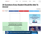 26 Questions Every Student Should Be Able To Answer