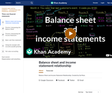 Finance & Economics: Balance Sheet and Income Statement Relationship