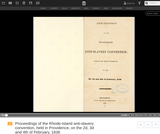 Proceedings of the Rhode-Island Anti-Slavery Convention, held in Providence, on the 2d, 3d and 4th of February, 1836