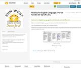 Rubrics for English Language Arts for Grades 10-12 CR & CC
