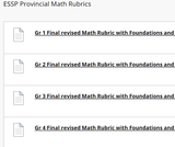 Math Rubrics from the Ministry in SK
