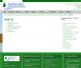 Grade 10 Curriculum Supports - Saskatchewan Rivers Public School Division No.119