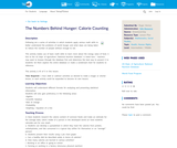 The Numbers Behind Hunger: Calorie Counting