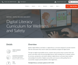Digital Literacy Curriculum - for wellness and safety