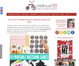 15+ Free, Printable Memory Matching Games for Kids