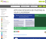 Applying Research by Pivoting in Your Classroom