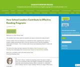 A companion document to the Saskatchewan English Language Arts Curriculum-Grades 1, 2, 3