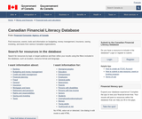 Canadian Financial Literacy Database