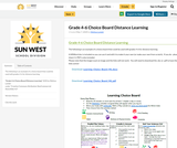 Grade 4-6 Choice Boards for Distance Learning
