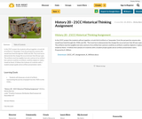 History 20 - 21CC Historical Thinking Assignment
