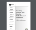 Teaching Students with Reading Difficulties and Disabilities A Guide for Educators