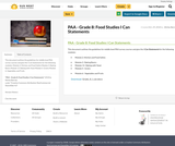 PAA - Grade 8: Food Studies I Can Statements
