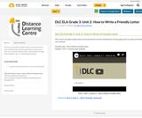 DLC ELA Grade 3: Unit 2- How to Write a Friendly Letter