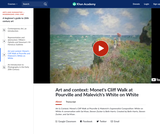 Art & Context: Monet's Cliff Walk at Pourville and Malevich's White on White