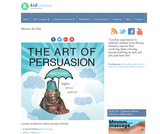 The Art of Persuasion: Rhetoric (logos, ethos, pathos)