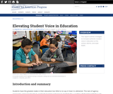 Elevating Student Voice in Education