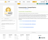 Communication - Example Rubrics