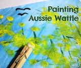 Wattle Painting with Pom Poms