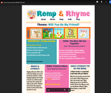 Romp & Rhyme Storytime Parent Activity Sheet: Friends