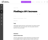 Finding a 10% Increase