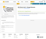 DLC ELA6: Unit 3 - Design Elements