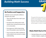 Building Math Success: Parent Pamphlets Grades 1-9