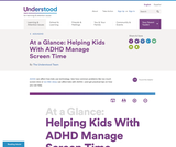 At a Glance: Helping Kids With ADHD Manage Screen Time