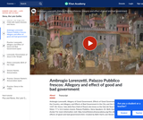 Ambrogio Lorenzetti's Palazzo Pubblico Frescos: Allegory and Effect of Good and Bad Government