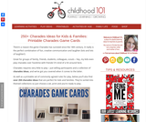 250+ Charades Ideas for Kids & Families